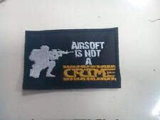 Patch AIRSOFT SOFTAIR - AIRSOFT IS NOT CRIME - MORALE - SEAL - DEVGRU - SPECIAL