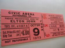 ELTON JOHN Original__1973__CONCERT TICKET STUB__Pittsburgh, PA