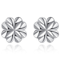 Womens Earrings Silver Plated Round Stud Studs Crystal Jewellery Fashion Ear 7