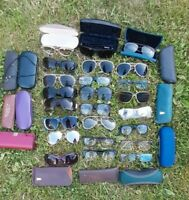 Joblot Of 24 Pairs Of Glasses Spectacles Sunglasses Reading Vintage and Modern