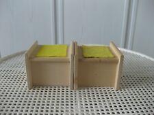 Puppenmöbel für Puppenhäuser - 2x Schreibtisch aus Holz