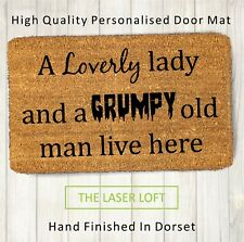 Coir Door Mat Funny Novelty 40cm x 60cm Can Be Personalised