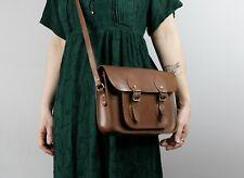 The Cambridge Satchel Company leather saddle messenger bag, medium size with fro