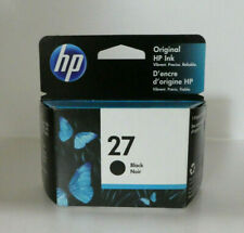 HP 27 BLACK INK CARTRIDGE FACTORY SEALED BOX/ GENUINE/ Dated 09/2021