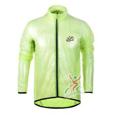 Mens Cycling Jacket Rain Waterproof Raincoat Hi Visibility Running Full Sleeve M