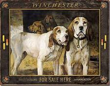 Winchester For Sale Here Blood Hounds Hunting Dogs Nostalgic Tin Metal Sign