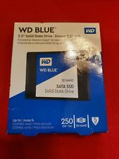 """WD Blue 250GB 2.5"""" 3D SSD Solid State Drive NEW IN BOX SEALED FREE SHIPPING!!"""