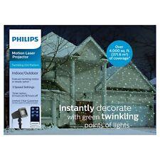 2cac1f28e89c8 Nuevo Proyector láser verde Navidad Philips con patrón de puntos Remoto  abrir y cerrar
