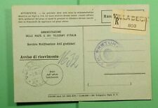 DR WHO 1939 SLOVENIA VILLA DECANI REGISTERED RECEIPT CARD STAMPLESS  f44177