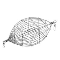 Stainless Steel Fish cage In Line Wire Cage Bait Trap Fishing Feeder Tackle