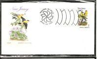 US SC # 1982 State Birds And Flowers ( New Jersey ) FDC .HF Cachet . 1