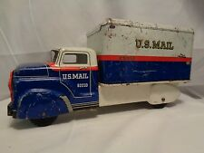 Antique Marx Tin Toy US Mail Truck 12 inches long