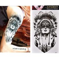Waterproof Ancient Women Temporary Tattoo Large Arm Body Art Tattoos Sticker JX