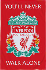 More details for liverpool fc you'll never walk alone coral fleece blanket