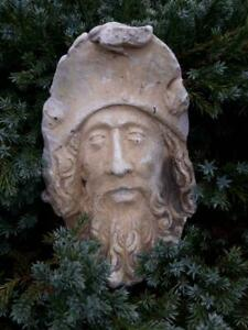 Great, Vintage Antique French garden ornament,wall ornament ,Face,God
