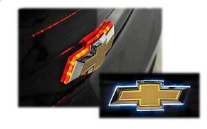 Bowtie Emblem Brake Light LED Light-Up Glow Red Fits 2010-2013 Rear Chevy Camaro