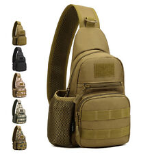 Men Nylon Messenger Shoulder Bag Tactical Military Hiking Sling Chest Back Pack