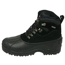"""New Men's Winter Boots Leather  Warm 6"""" Insulated Hiking Snow Shoes, Size:6.5-13"""