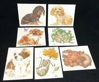Lot of 7 Unused Vintage Current Note Cards Pups Bright n Breezy Frisky N Frosty