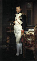 Beautiful Oil painting male portrait louis-david--napoleon-in-his-study canvas