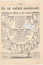 1914 VERY RARE BORAX Advertisement 20 Mule Team SOAP  Rare!