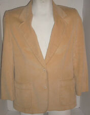 Golden YELLOW Corduroy Lined Jacket Blazer Size 12 Vintage Country Suburbans