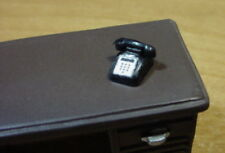 Desk Phone Miniature Black 1/24 Scale G Scale Diorama Accessory Item