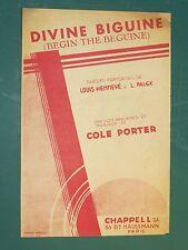 """Partition Chant """"Divine Biguine"""" Cole PORTER L. HENNEVÉ"""