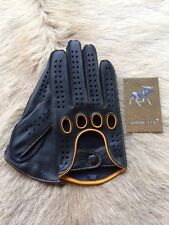 Men's Driving Leather Gloves Deerskin Business Class Car Glove