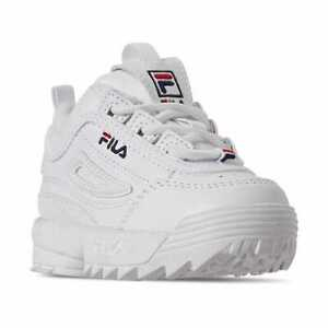 Toddler Fila Toddler Disruptor 2 Casual Sneakers WHT/NVY/RED