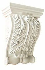 Corbel Acanthus leaf 11 Inch Primed White bracket for wall shelf ceiling molding