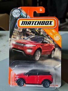 MATCHBOX 2014 RANGE ROVER EVOQUE RED #31 MBX CITY USA LONG CARD NEW UK STOCK