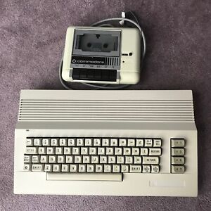 Commodore 64 computer with 1530 Datacassette tape player, Tested & Working