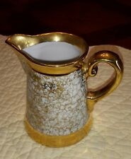 RARE Moschendorf BAVARIA Porcelain Creamer Pitcher Gilt Gold Leaf Trim Signed
