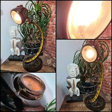 TISCHLAMPE Fahrrad Antik LAMPE VESPA ROLLER Einzelstück Stehlampe Moped Unikat