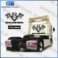 1 Stück SCANIA V8 LKW Kabinenrückwand Aufkleber - Sticker - B 175cm x H 120cm !