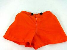 BLANC NOIR WOMENS ORANGE NYLON ATHLETIC SMIW SHORTS SIZE SMALL