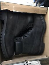 "Timberland 6"" Premium Waterproof Boot Mens Black Leather BOOTS Shoes US 12"