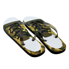 MENS MEDIUM Lace up Camouflage Trainers Flip Flops SANDALS BEACH SHOES PRESENT