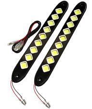 2 feux de circulation diurnes additionnels à LED 265/32mm de jour 12V