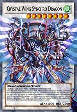Crystal Wing Synchro Dragon Yu-Gi-Oh! Super Rare Alternate Art Orica