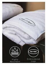 Lay-Z-Spa Luxury 100% Egyptian Cotton Face Hand Bath Towel Swimming Pool White