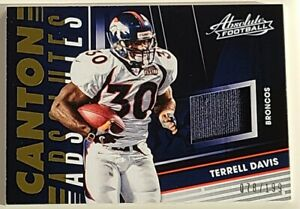Terrell Davis Denver Broncos PATCH 2018 Absolute Canton Absolutes 78/199