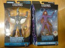"""Marvel Legends Inhumans set: Black Bolt and exclusive Medusa 6"""" figures, new"""