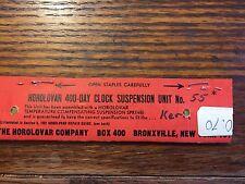 HOROLOVAR 400 DAY SUSPENSION UNIT KERN STD QUARTZ 57 NEW OLD STOCK Lot 439