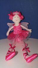 Maison Chic pink ballerina fairy princess plush rag doll girl pink hair wings 15
