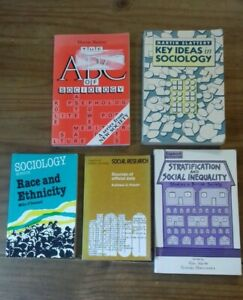 5 Sociology Soft Back Books 1974 to 1994