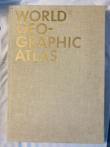 1953 WORLD GEOGRAPHIC ATLAS by Herbert Bayer - Container Corp - America