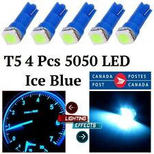 4x T5 Ice Blue 1-SMD Car Dashboard Lights Gauge Cluster LED Bulbs Light NEW