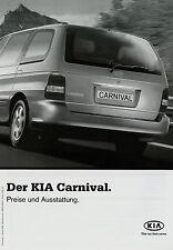 Preisliste Kia Carnival 1.1.03 2003 Preise Autopreisliste price liste prislista